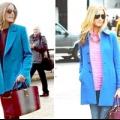 З чим носити синє пальто?